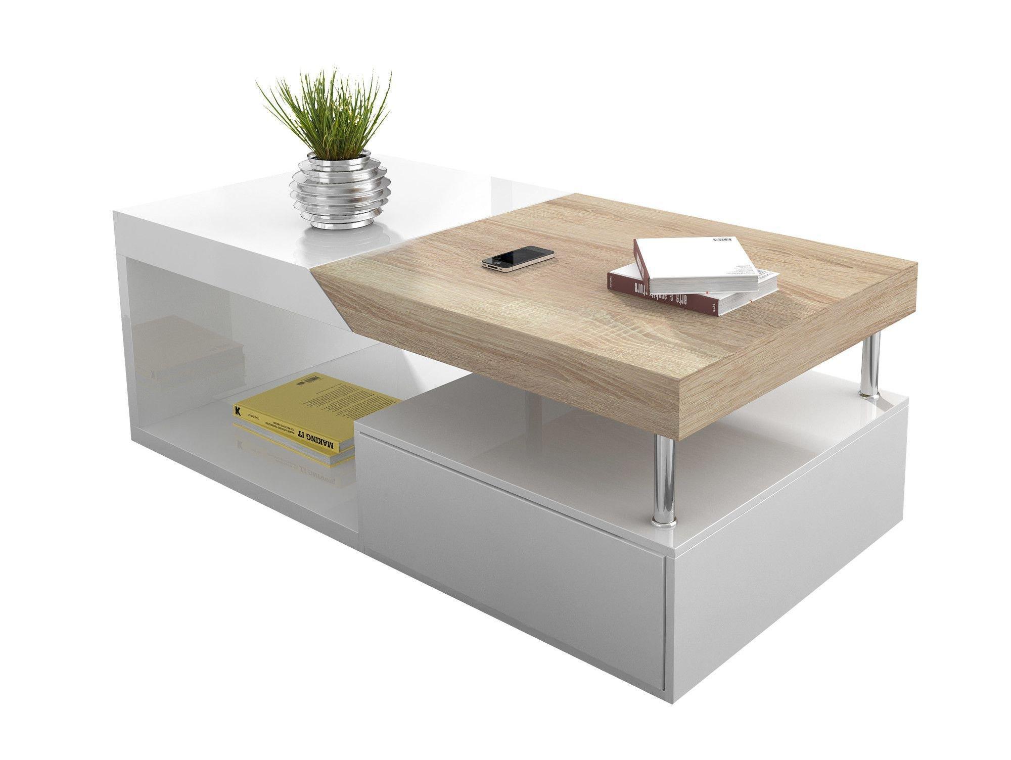 Table basse cuivre et bois