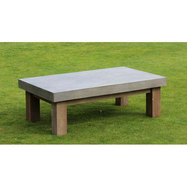 Table basse béton et bois