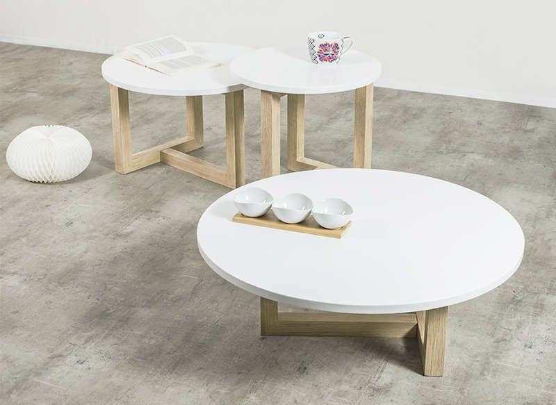 Table basse blanc scandinave