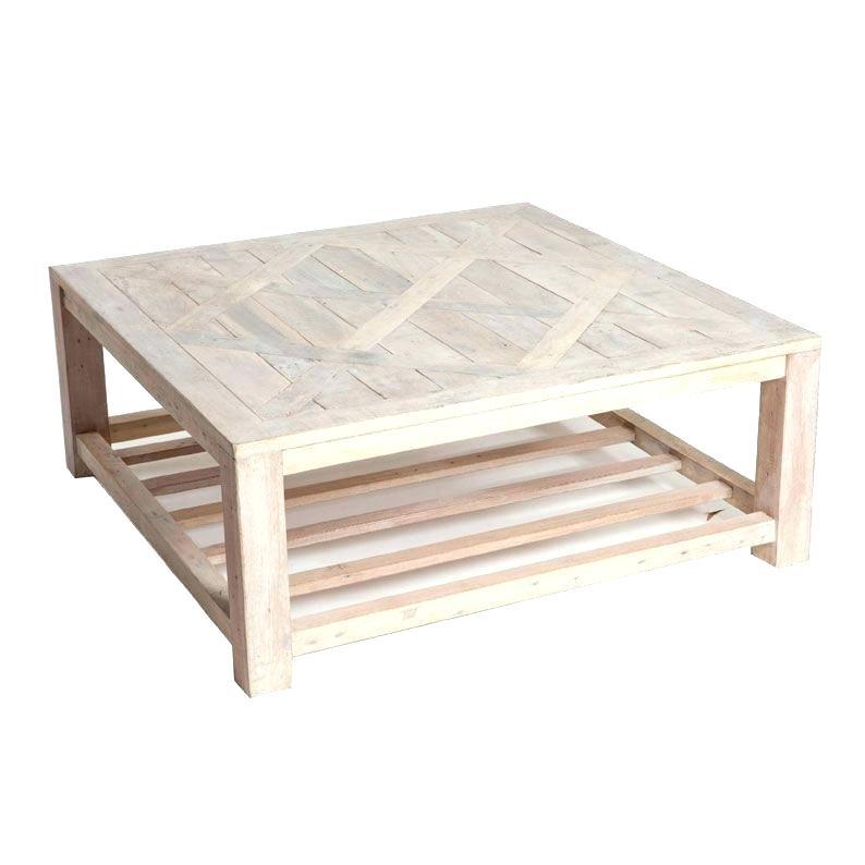 Table basse bois chene foncé