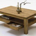Table basse de salon en bois avec tiroir