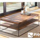 Table basse metal noir bois