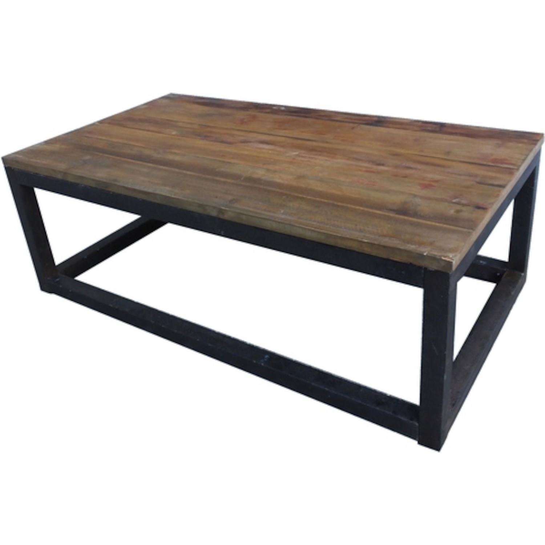 Table basse bois etmetal