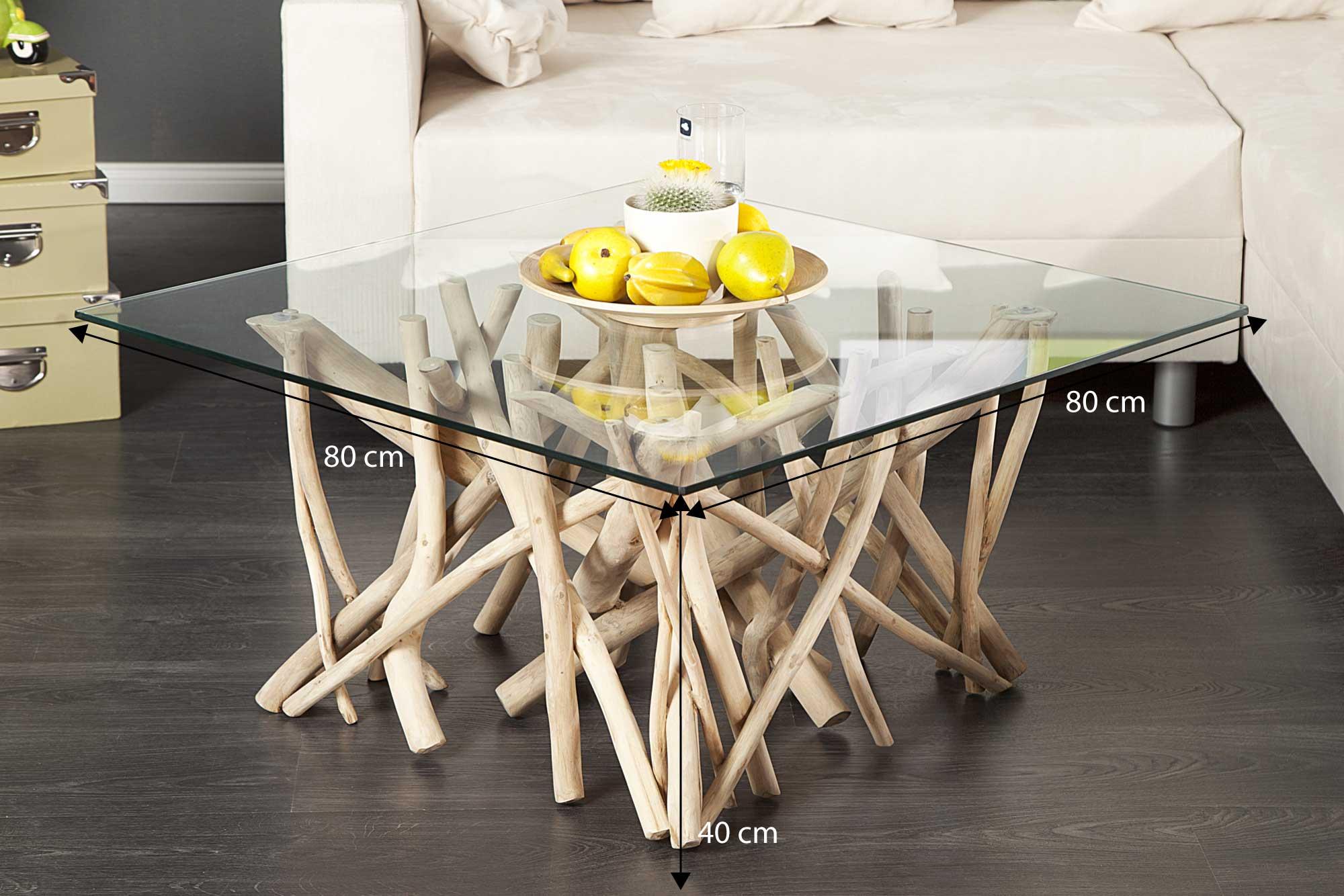 Petite table basse bois flotté