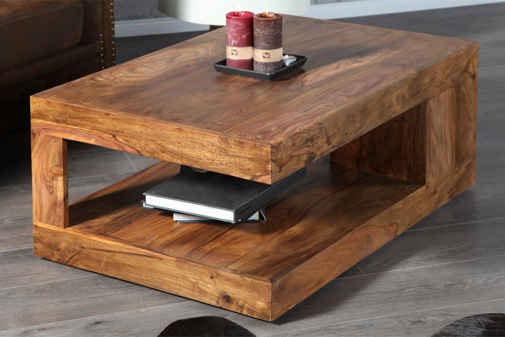 Table basse maya bois massif
