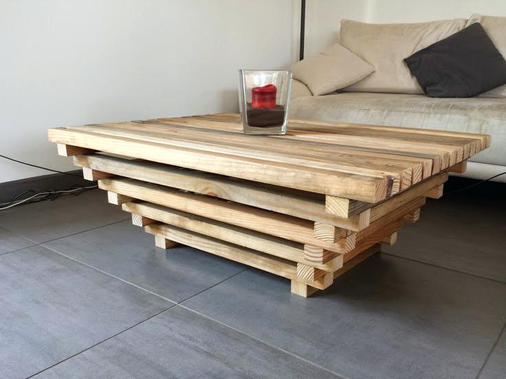 Faire table basse bois