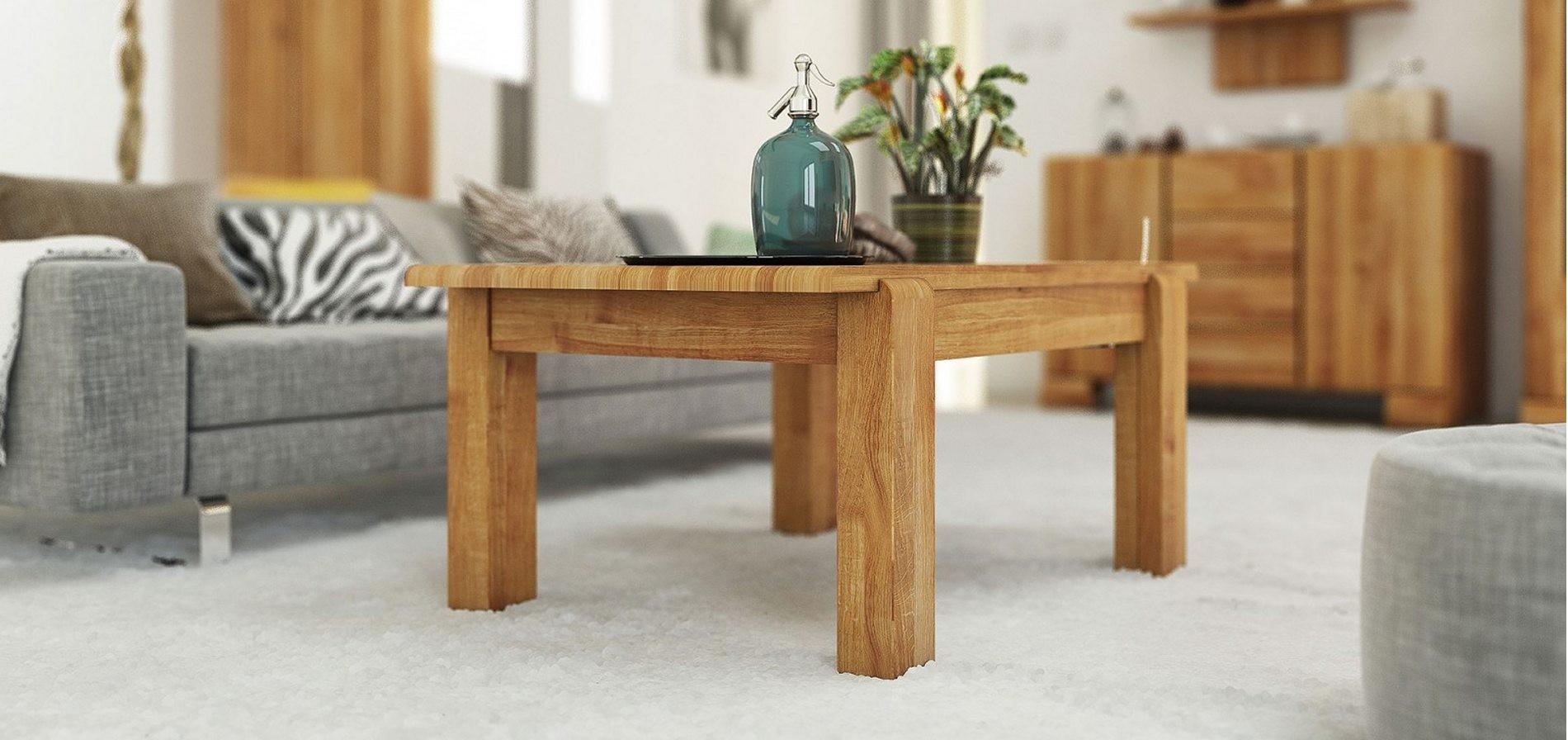 Table basse en bois hetre