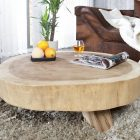 Table basse bois rond