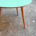 Table basse ronde bois et couleurs