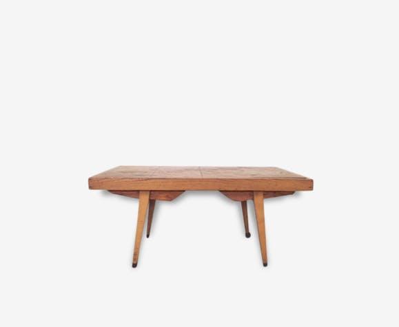 Table basse bois années 50