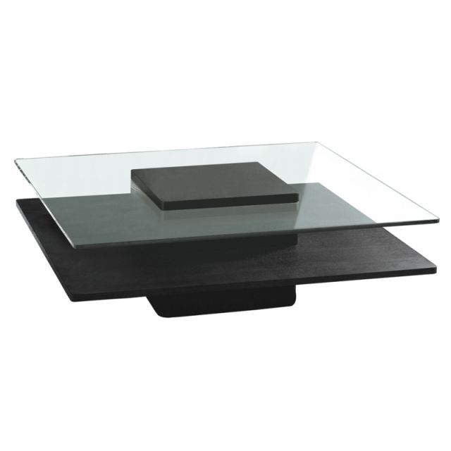 Table basse concord verre & wenge