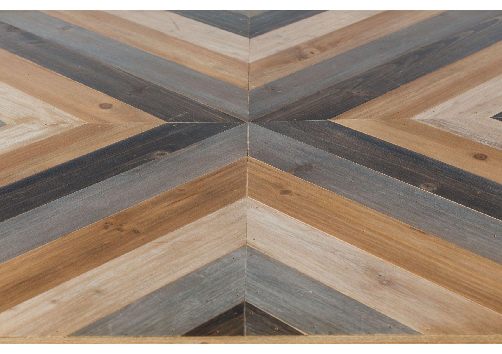 Table basse bois metal style industriel