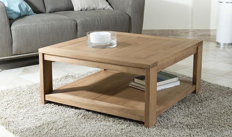 Table basse carrée 100x100 bois