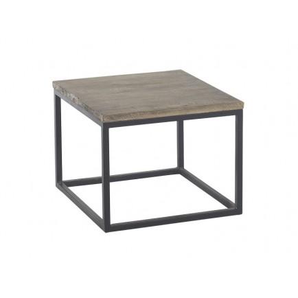 Table basse carré fer forgé