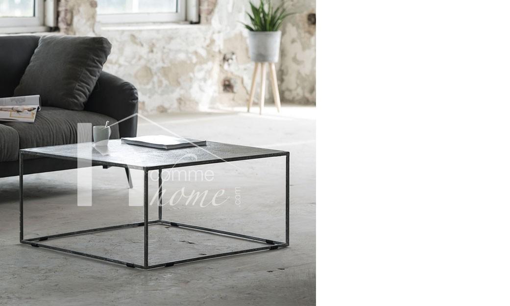 Table basse industrielle noire