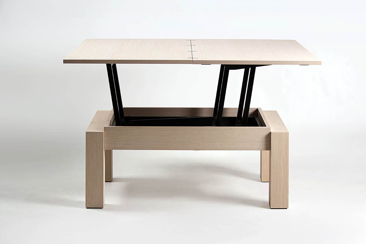 Table basse modulable bois