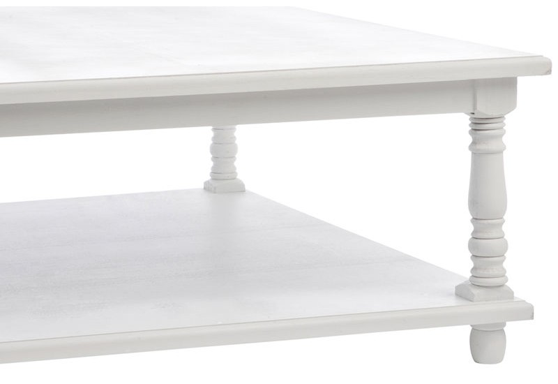Table basse bois blanc carré