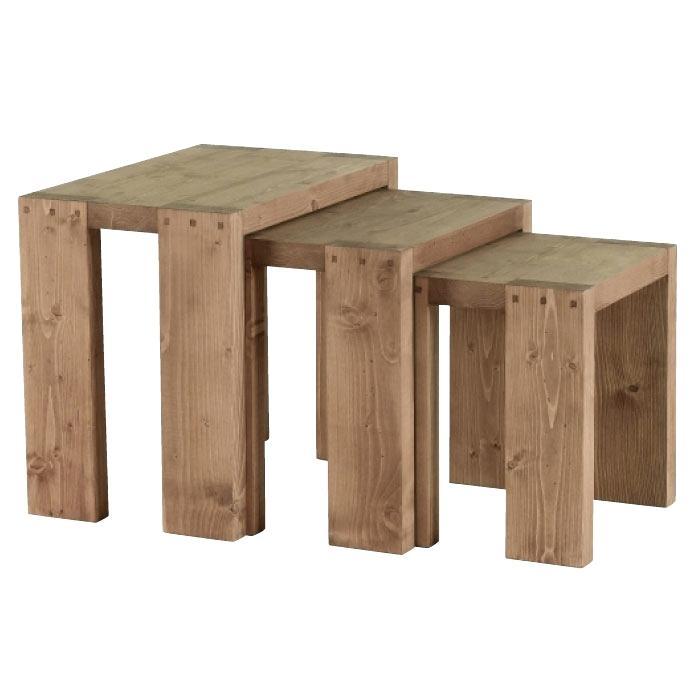 Cocktail scandinave table basse poutre