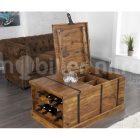 Table basse avec coffre en bois