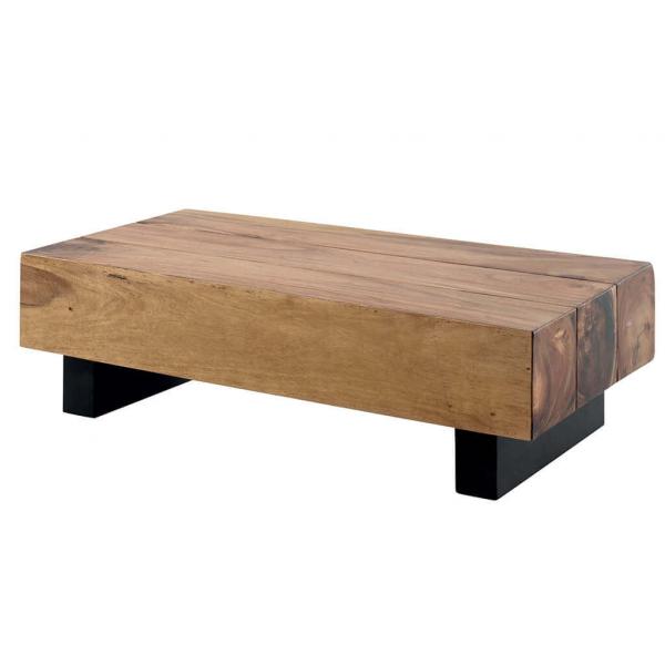 Table basse bois poutre