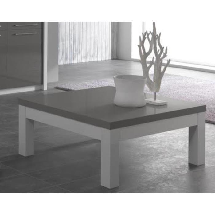 Table basse grise et blanche