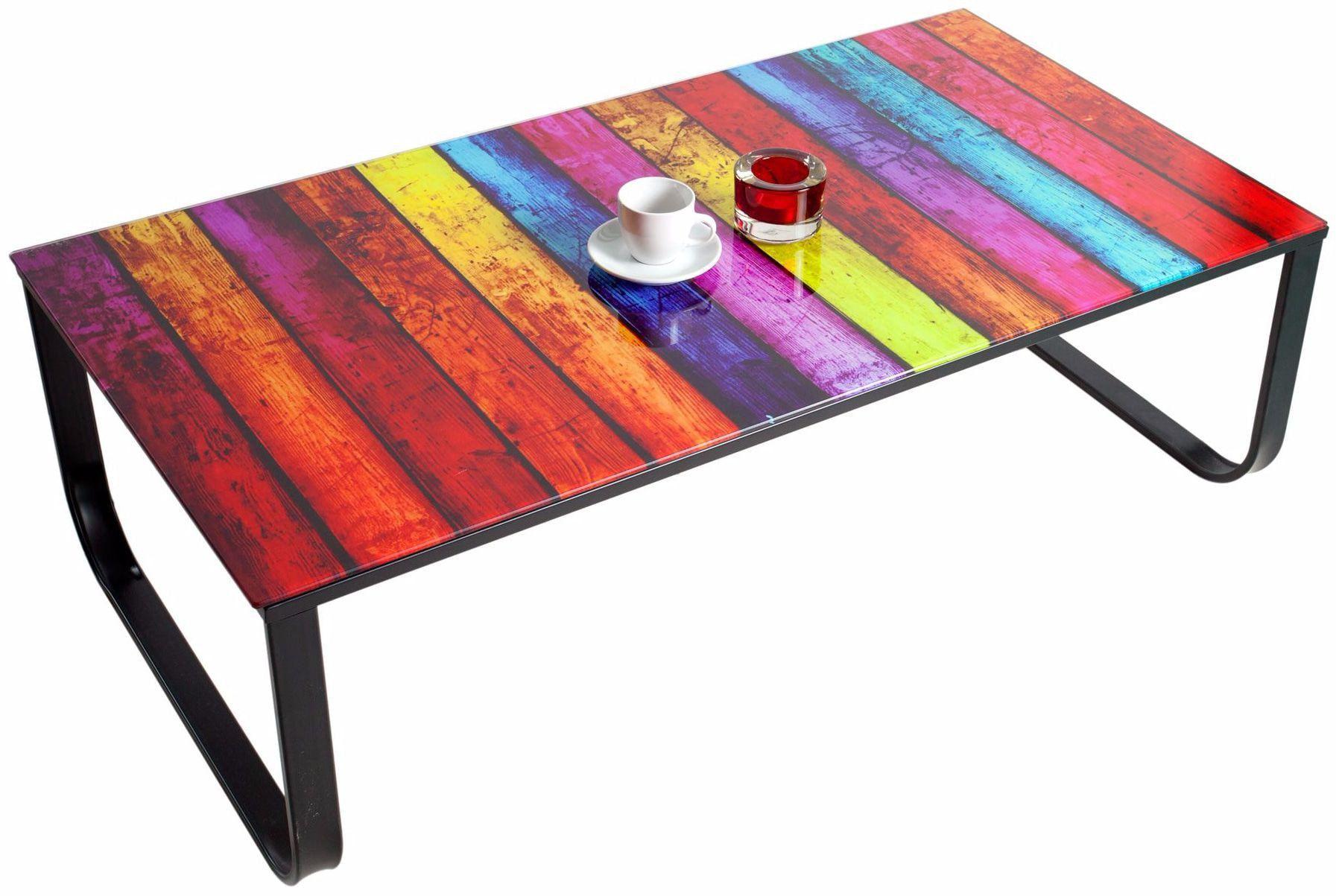 Table basse en verre multicolore mobilier design d coration d 39 int rieur - Deco table multicolore ...