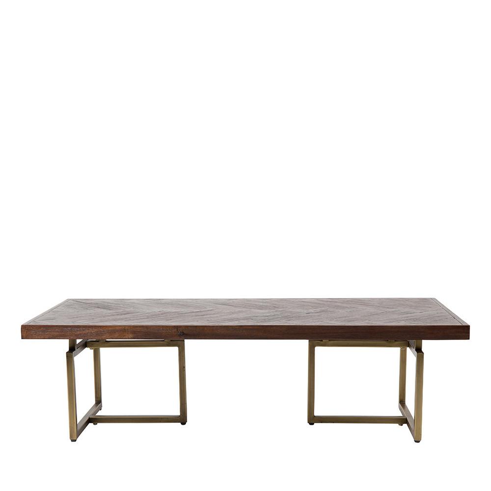Table basse laiton bois