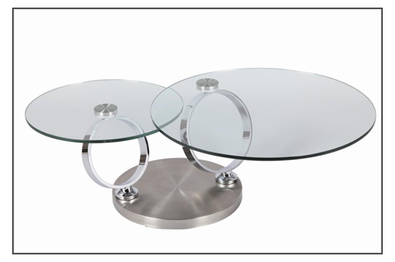 Table basse en verre modulable