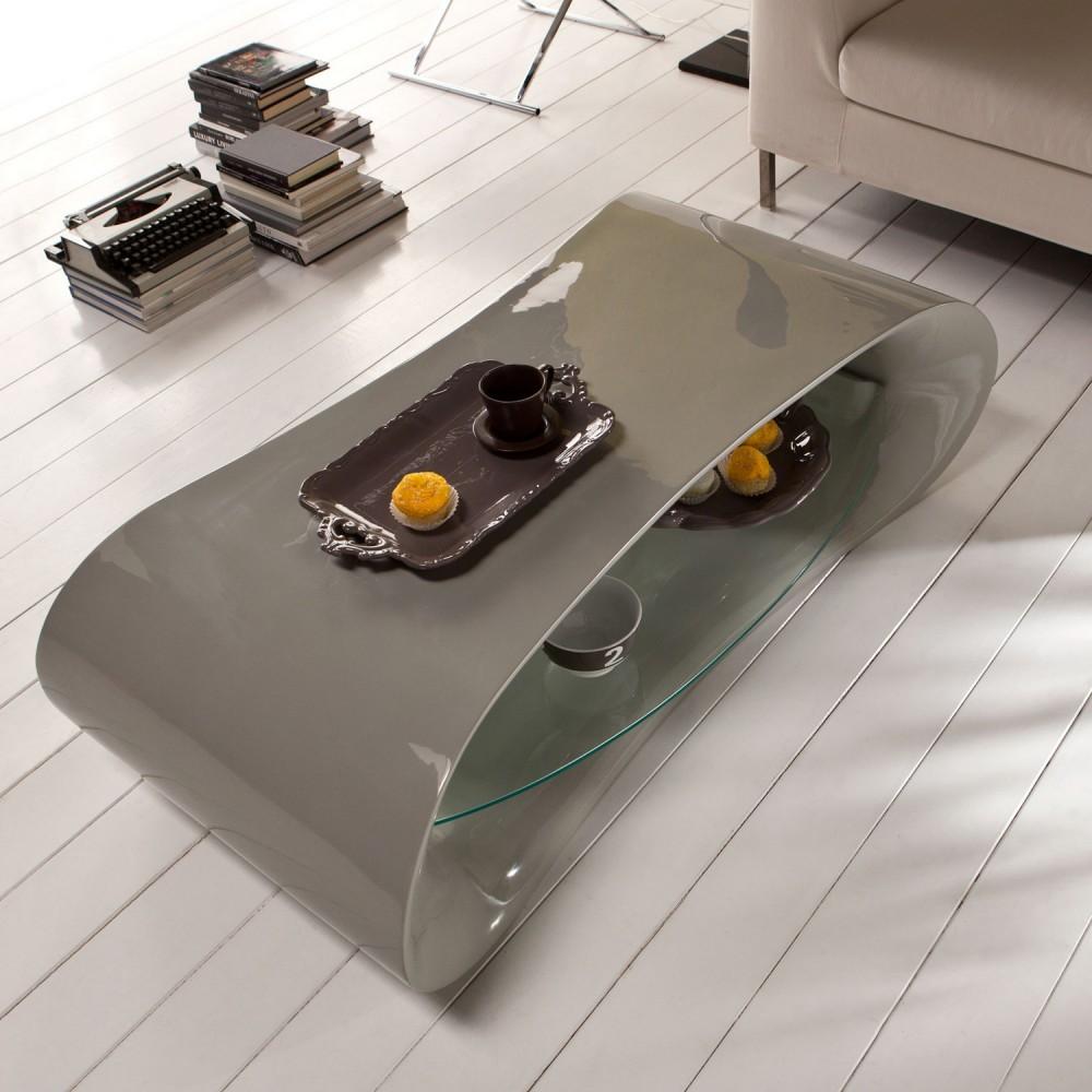 Table basse design grise