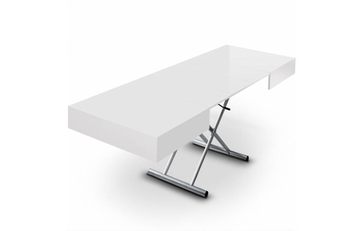 Table basse relevable extensible ovale