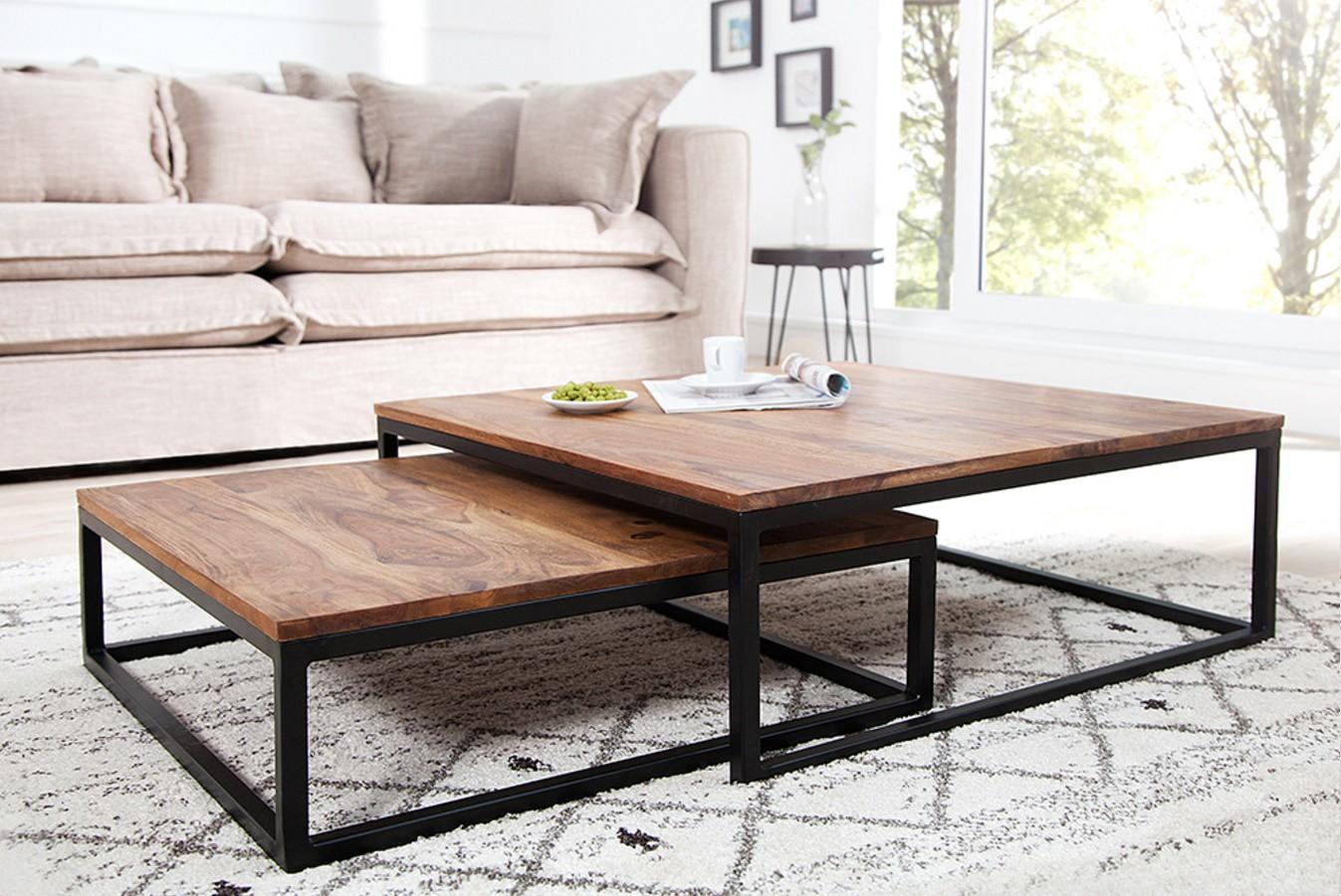 Table basse bois brut blanc
