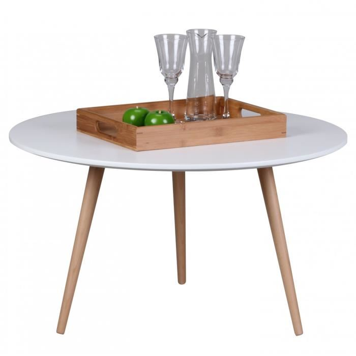 Table basse scandinave 80 cm
