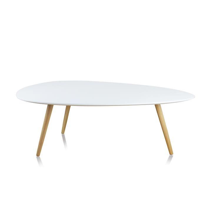 Table basse scandinave blanche et grise