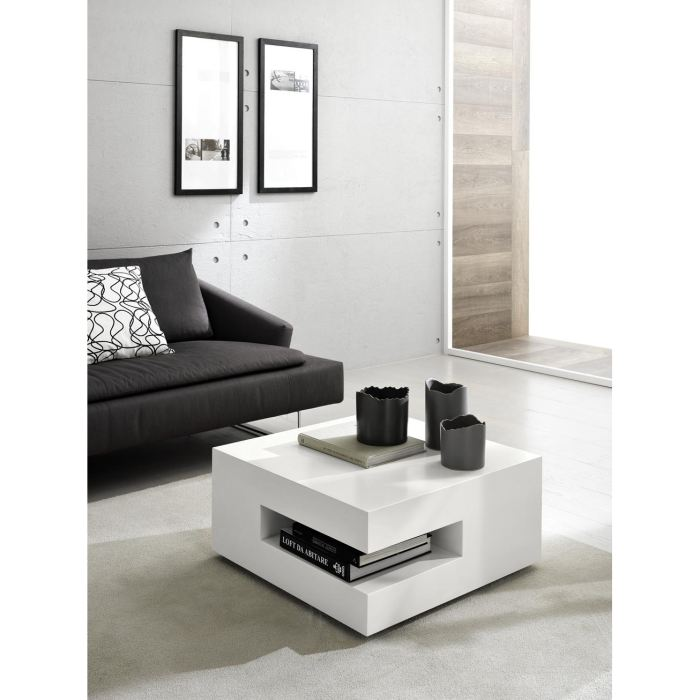 Square deco table basse relevable