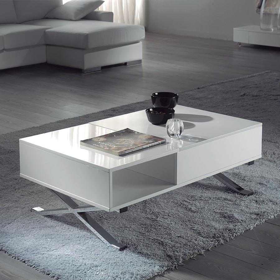 Table basse relevable zoe verre