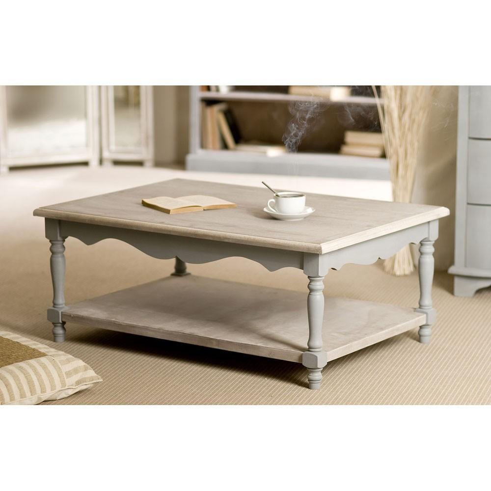 Table basse bois romantique