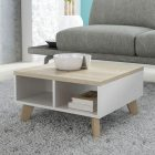 Table basse en bois blanche