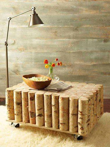 Buche bois table basse