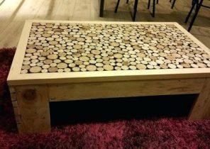 Table basse bois flotté maison du monde