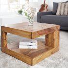 Petite table basse en bois massif