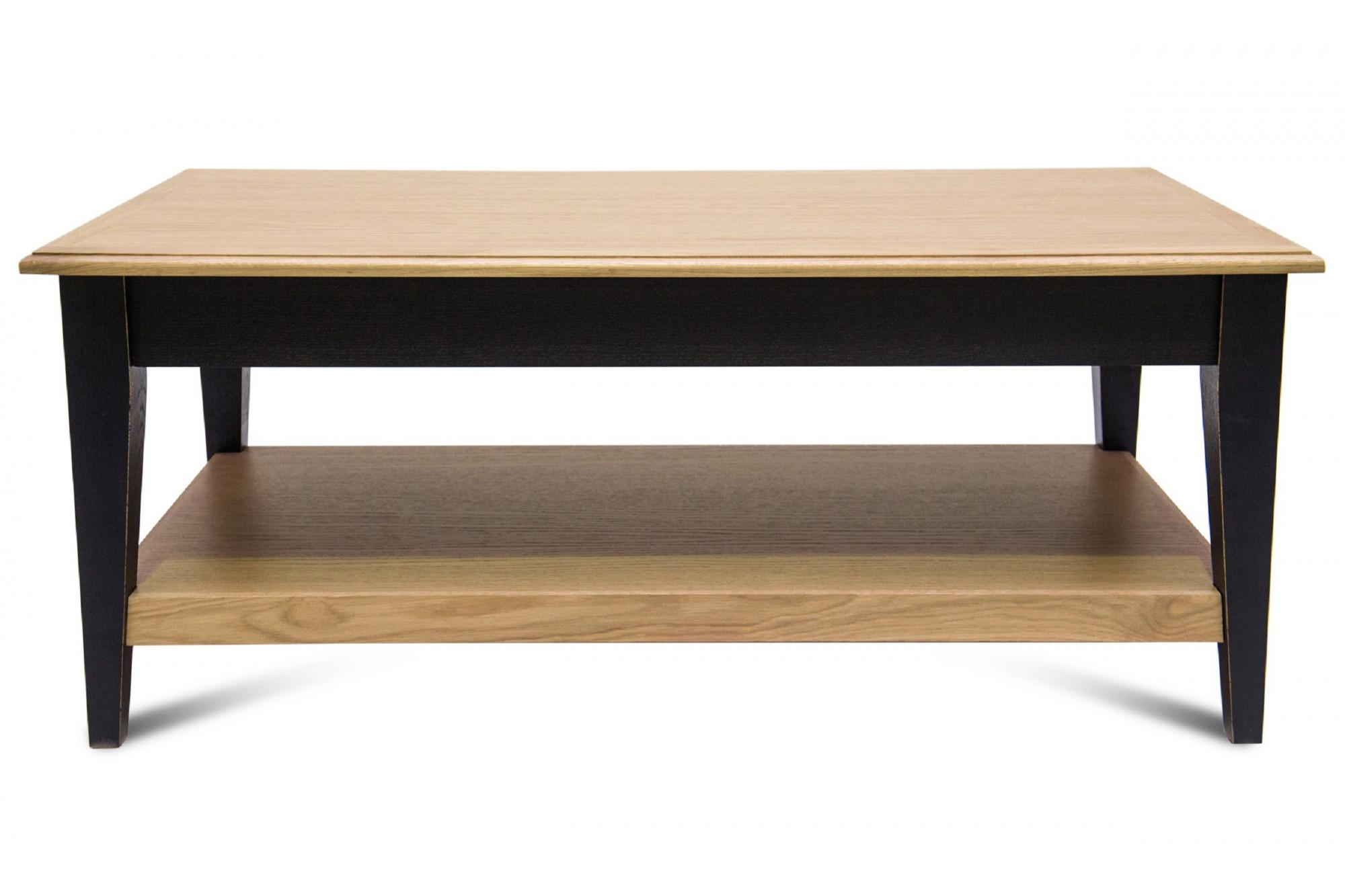 Table basse rectangulaire bois chene