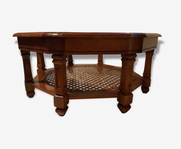Table basse hexagonale en bois