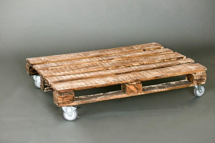 Table basse jardin bois palette
