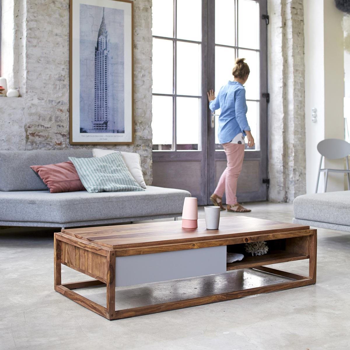 Table basse maison du monde bois et verre