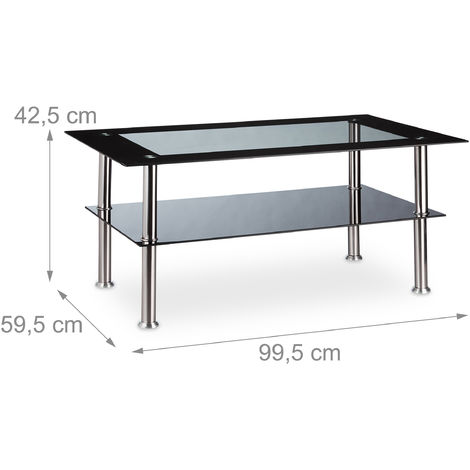 Table basse verre 100 x 60