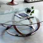 Table basse ovale pas cher
