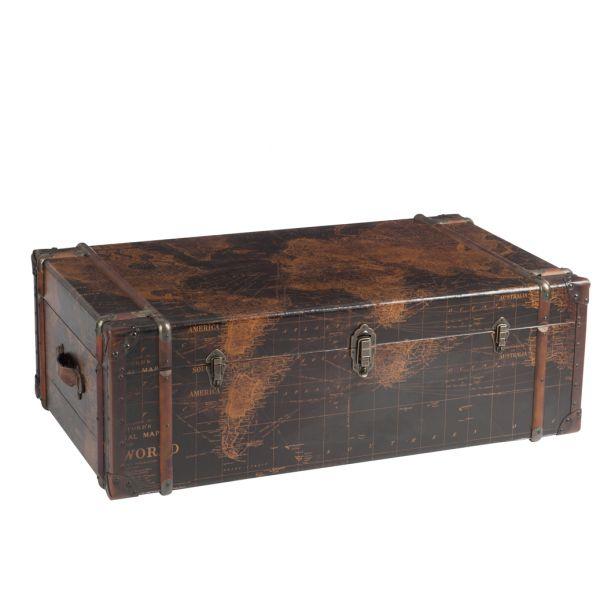 Table basse coffre en bois
