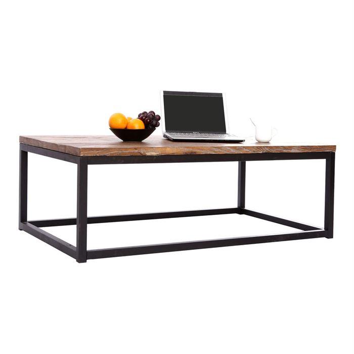 Table basse rectangulaire bois pas cher
