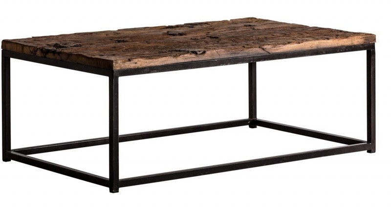 Table basse fer noir