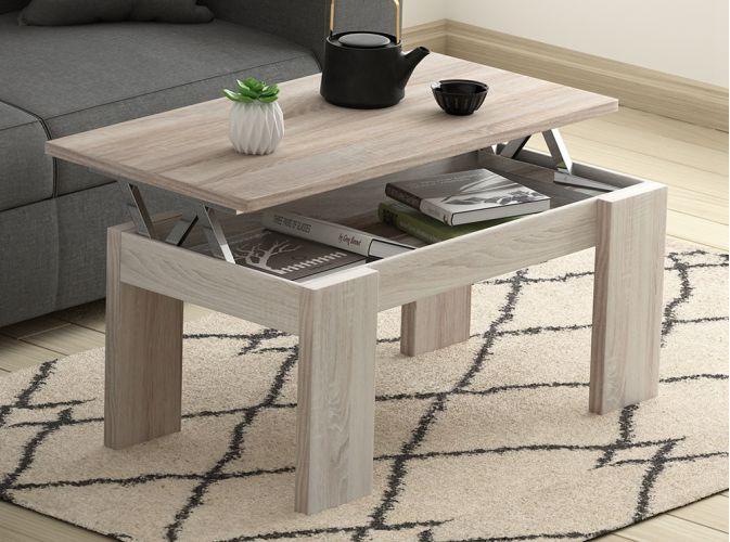 Plateau relevable table basse